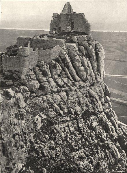 Associate Product ARDÈCHE. Château de Crussol 1903 old antique vintage print picture