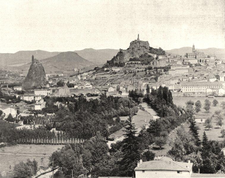Associate Product HAUTE-LOIRE. Le Puy- Vue générale 1903 old antique vintage print picture