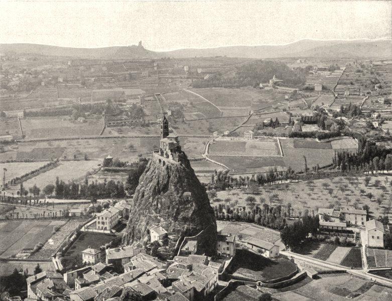 Associate Product HAUTE-LOIRE. Le Puy- Vue Prise du rocher Corneille 1903 old antique print