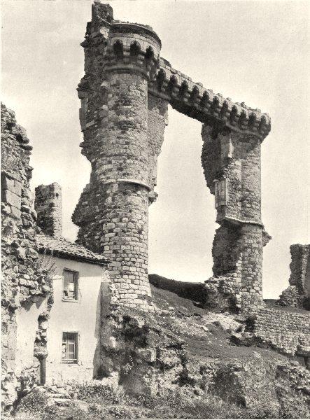Associate Product HAUTE-LOIRE. Château d'Allègre 1903 old antique vintage print picture