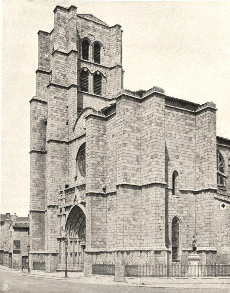 Associate Product LOIRE. Montbrison- Église 1903 old antique vintage print picture