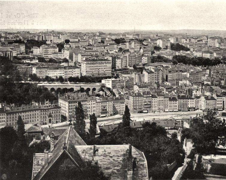 Associate Product RHÔNE. Lyon- Vue générale price de la maison Gay 1903 old antique print