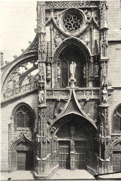 Associate Product RHÔNE. Église de Villefranche 1903 old antique vintage print picture