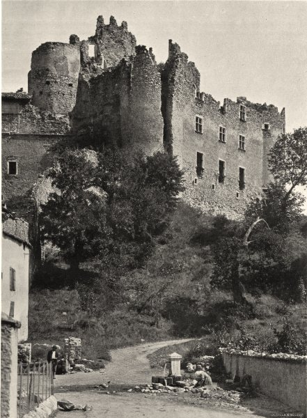 Associate Product HAUTES-ALPES. Château de Tallard (ensemble)  1904 old antique print picture