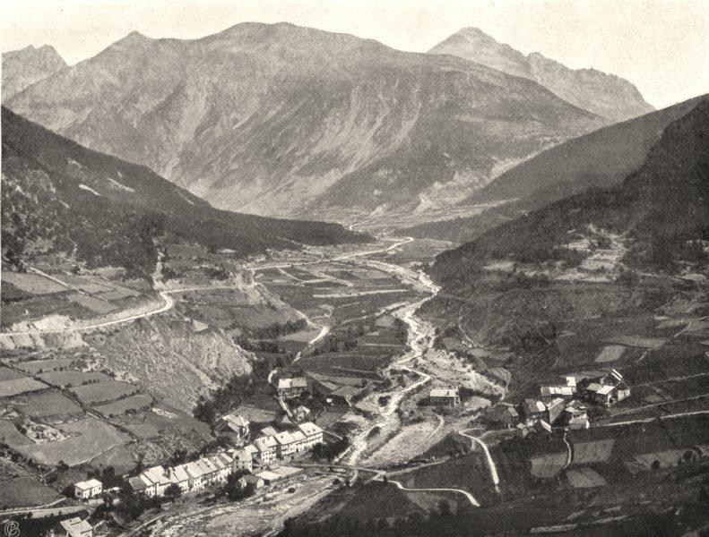 Associate Product HAUTES-ALPES. Vallée de la Durance en amount de Briançon 1904 old print