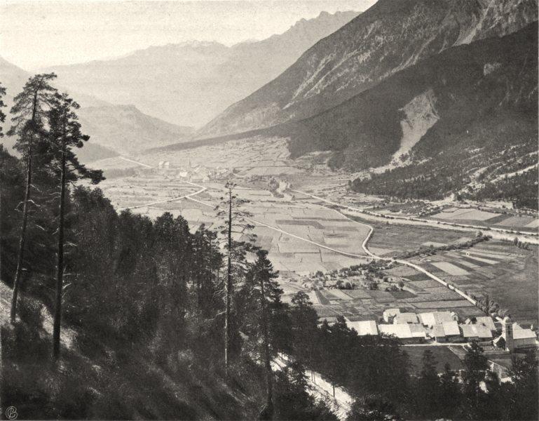 Associate Product HAUTES-ALPES. Vallée de la Durance vue de la montée du mont Genèvre 1904 print