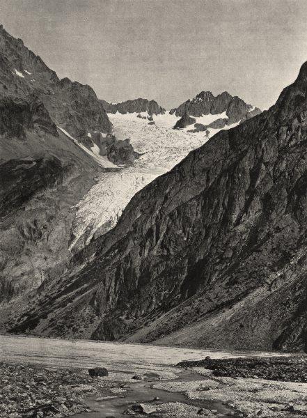 Associate Product HAUTES-ALPES. Le glacier Blanc 1904 old antique vintage print picture