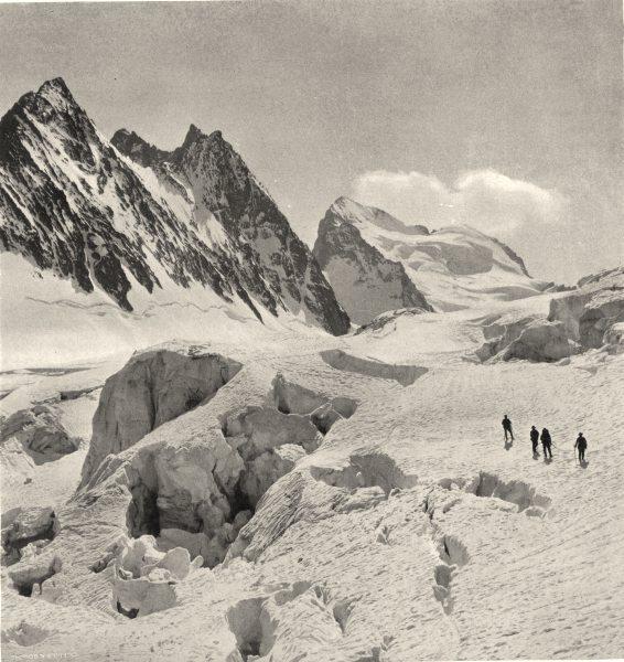 Associate Product HAUTES-ALPES.Écrins(4,103 mètres d'altitude)-Crevasses sur glacier Blanc 1904