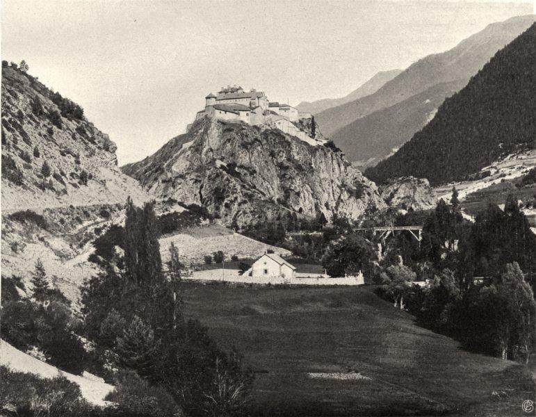 Associate Product HAUTES-ALPES. Château- Queyras 1904 old antique vintage print picture