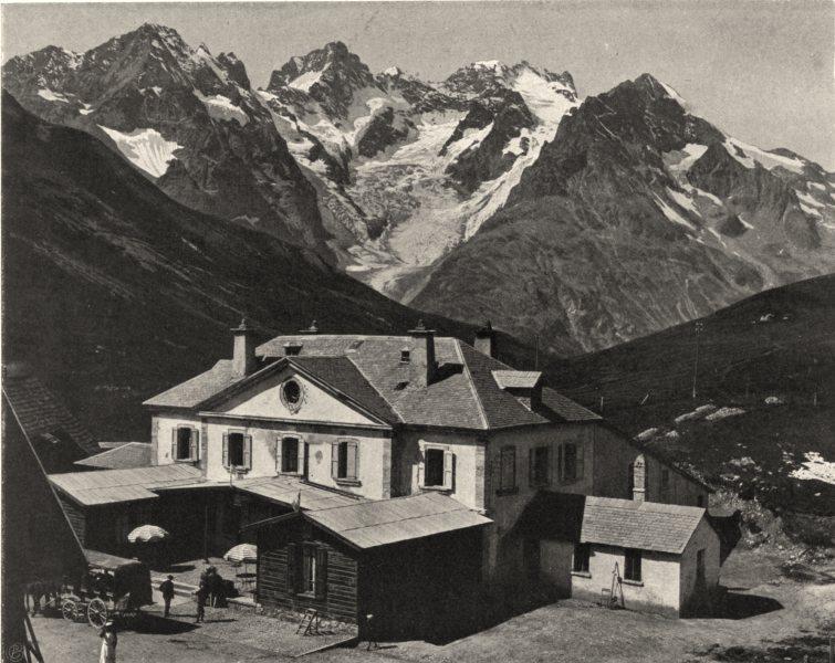 Associate Product HAUTES-ALPES. Le Lautaret, le glacier de I'Homme et la Meije 1904 old print