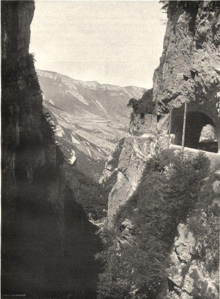 Associate Product DRÔME. Route des Grands Goulets- Vallée de la Vernaison 1904 old antique print