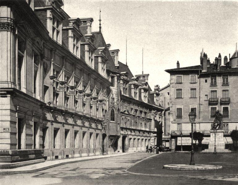 Associate Product ISÈRE. Grenoble- Palais de justice. SMALL. 1904 old antique print picture