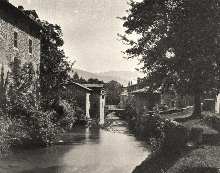 Associate Product ISÈRE. Sassenage- Le Furon 1904 old antique vintage print picture