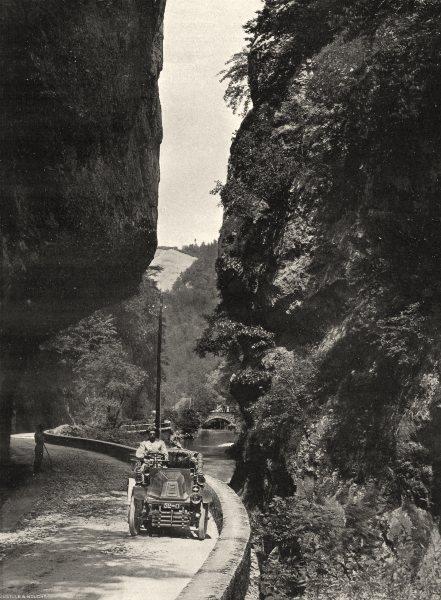 Associate Product ISÈRE. Route de la Grande- Chartreuse- Entrée du Désert 1904 old antique print