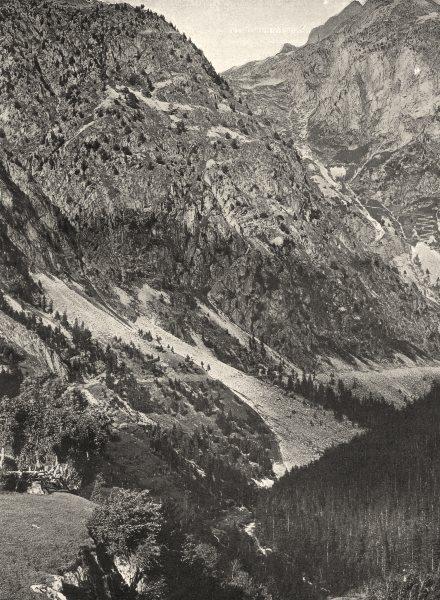 Associate Product ISÈRE. La descente des Sept- Laus sur le Rivier- d'Allemont 1904 old print