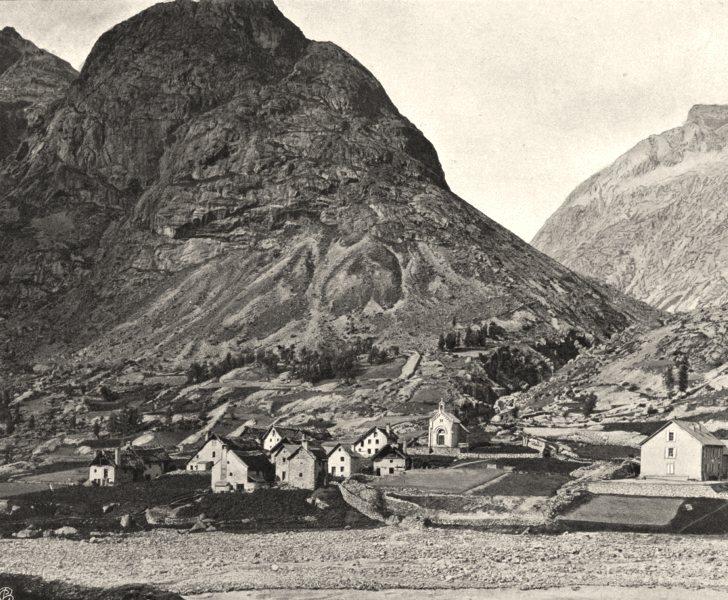Associate Product ISÈRE. La Bérarde et la Tėte de la Maye 1904 old antique vintage print picture