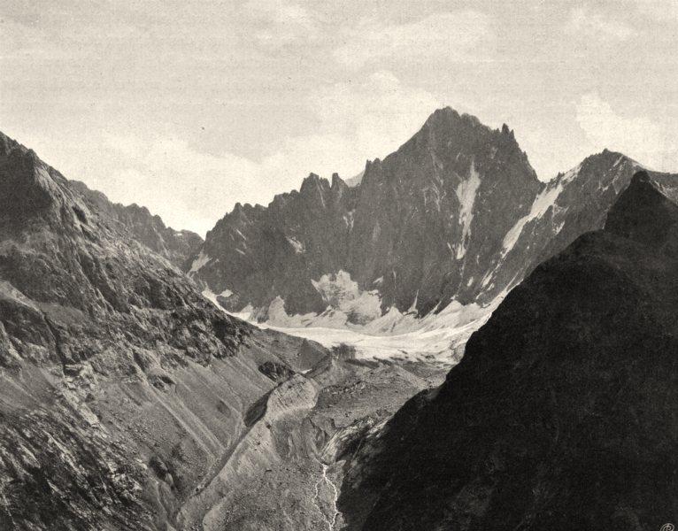ISÈRE. Les Écrins et le glacier de la Bonne- Pierre 1904 old antique print