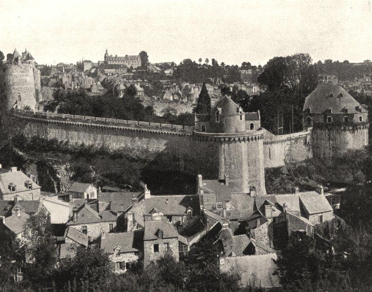 Associate Product ILLE-ET-VILAINE. Château de Fougères 1902 old antique vintage print picture