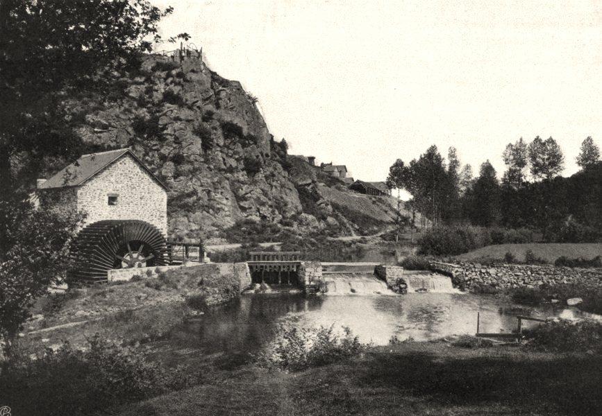 ILLE-ET-VILAINE. Vieuxvy-sur-Couesnon 1902 old antique vintage print picture