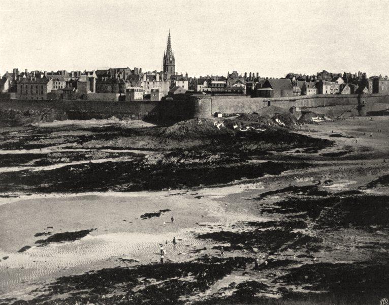 Associate Product ILLE-ET-VILAINE. Saint-Malo, vu du Grand- Bey 1902 old antique print picture