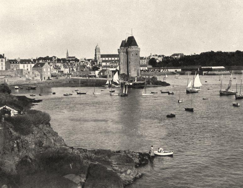 Associate Product ILLE-ET-VILAINE. Vue générale de Saint-Servan 1902 old antique print picture