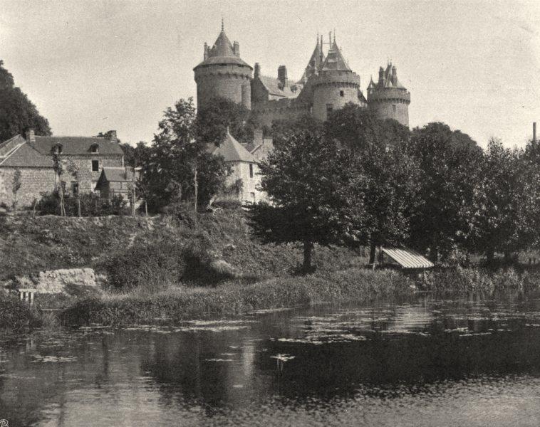 Associate Product ILLE-ET-VILAINE. Château de Combourg 1902 old antique vintage print picture