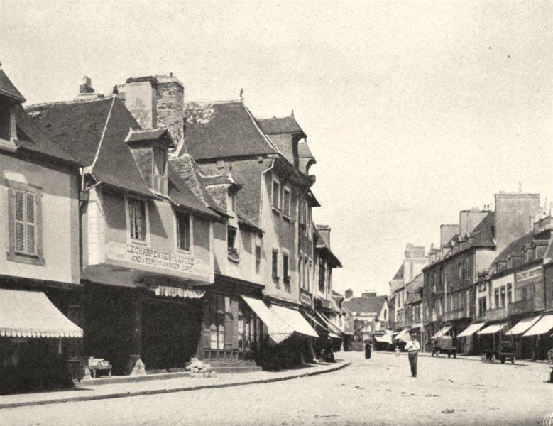 Associate Product ILLE-ET-VILAINE. La Grande- Rue. à Dol. SMALL. 1902 old antique print picture