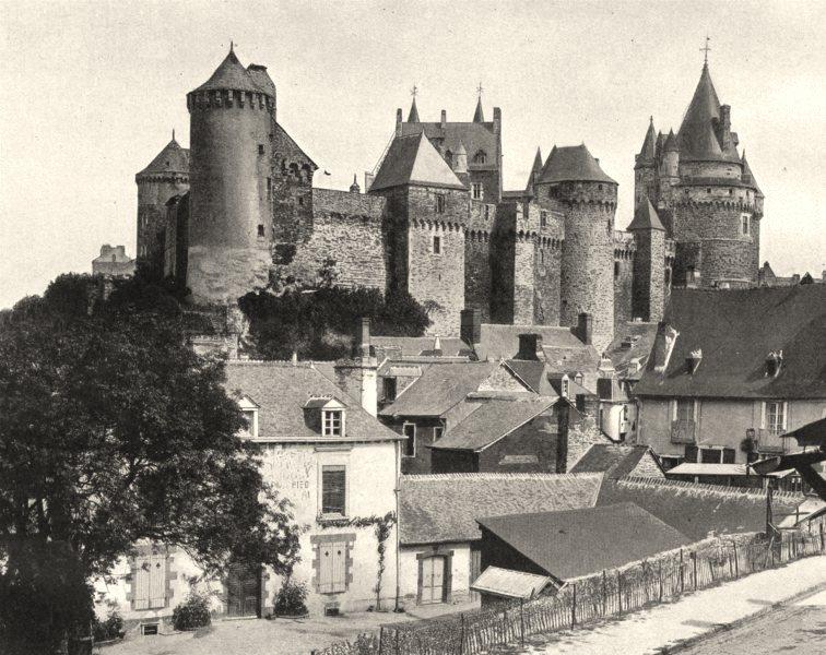 Associate Product ILLE-ET-VILAINE. Château de Vitré 1902 old antique vintage print picture