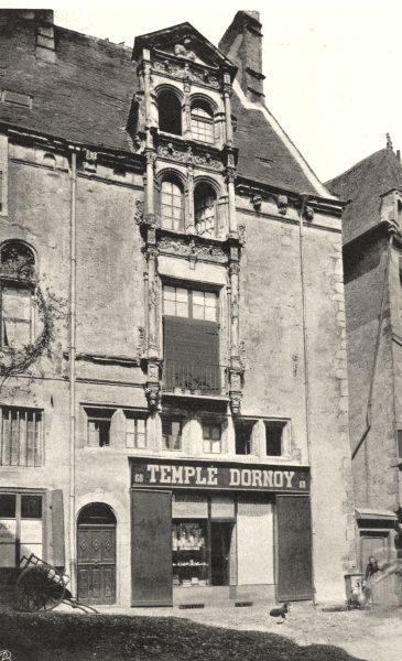 Associate Product MAYENNE. Maison du Grand- Veneur, à Laval. SMALL. 1902 old antique print