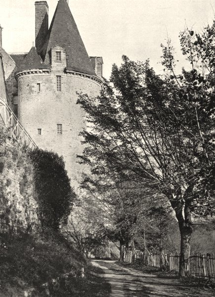 Associate Product MAYENNE. Le château, à Sainte-Suzanne 1902 old antique vintage print picture