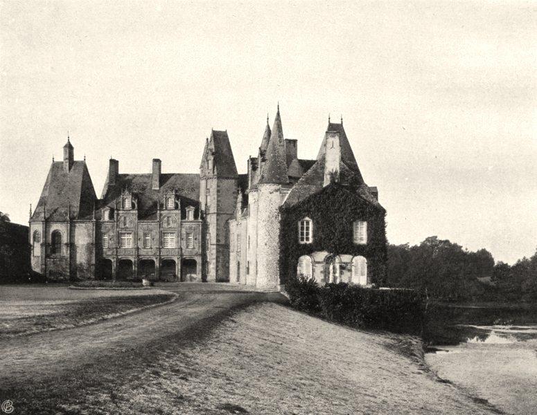 Associate Product MAYENNE. Château de Mézangers 1902 old antique vintage print picture