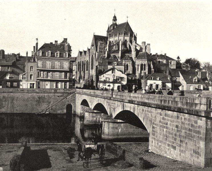 Associate Product MAYENNE. L'église, à Mayenne 1902 old antique vintage print picture