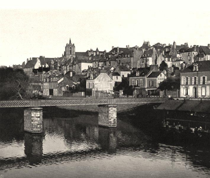 SARTHE. Vue générale du Mans 1902 old antique vintage print picture