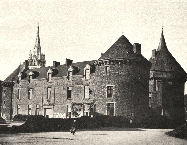 Associate Product SARTHE. Château de Sillé-le-Guillaume 1902 old antique vintage print picture