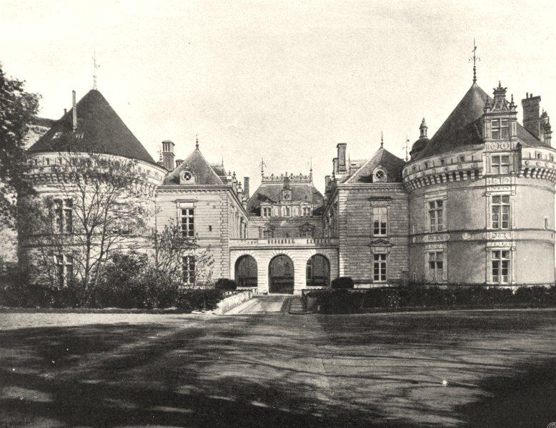Associate Product SARTHE. Château du Lude 1902 old antique vintage print picture