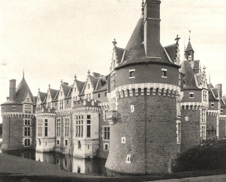 Associate Product SARTHE. Château de Bonnétable 1902 old antique vintage print picture