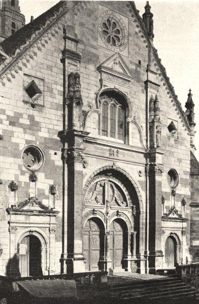 Associate Product SARTHE. Église de Saint-Calais 1902 old antique vintage print picture
