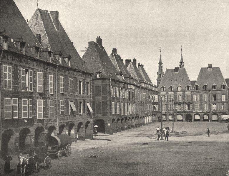 Associate Product ARDENNES. Charleville- Place Ducale 1906 old antique vintage print picture