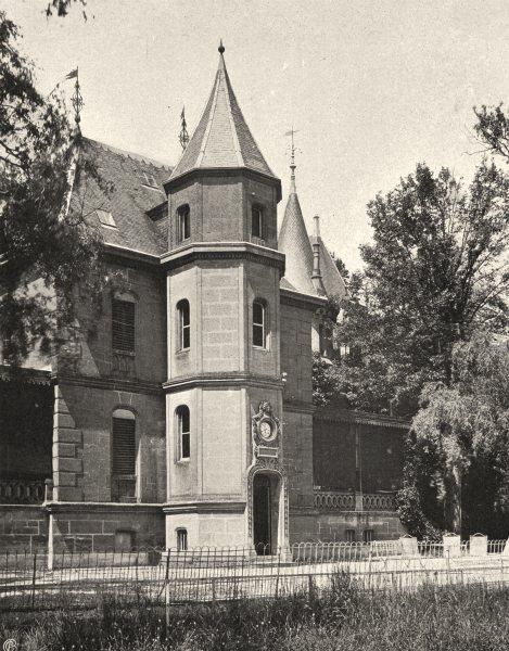 Associate Product ARDENNES. Château de Bellevue, près Donchery 1906 old antique print picture