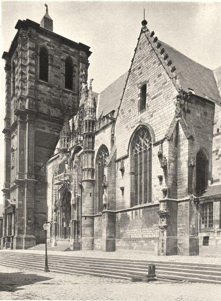 Associate Product ARDENNES. Rethel- Église 1906 old antique vintage print picture
