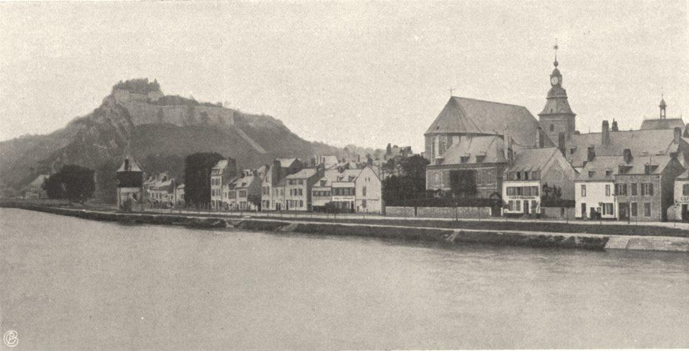 Associate Product ARDENNES. Givet- Vue générale. SMALL. 1906 old antique vintage print picture