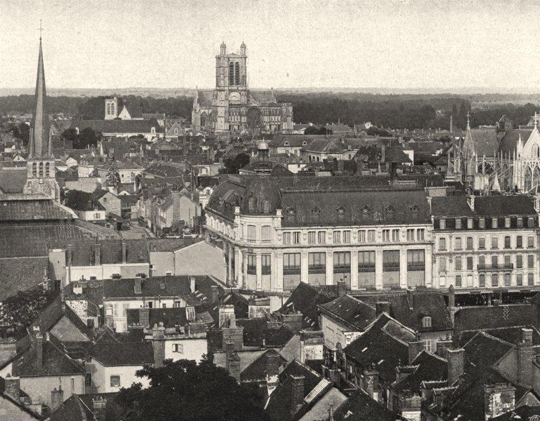 AUBE. Troyes- Vue générale 1906 old antique vintage print picture