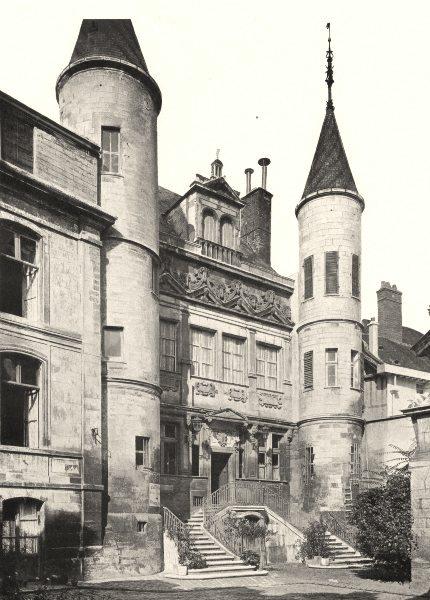 Associate Product AUBE. Troyes- Hôtel de Vauluisant 1906 old antique vintage print picture