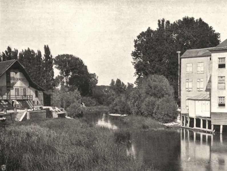 Associate Product AUBE. Arcis-sur-Aube- la rivière 1906 old antique vintage print picture