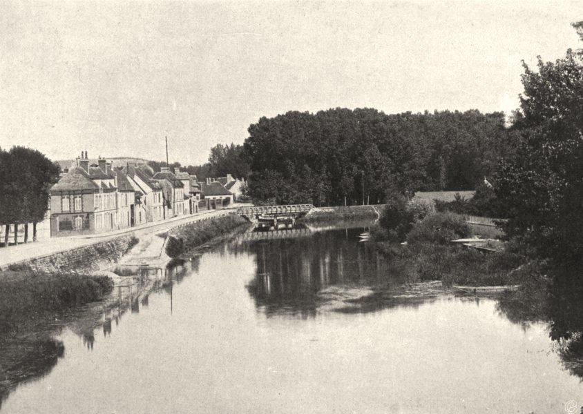 Associate Product AUBE. Nogent-sur-Seine- la Seine 1906 old antique vintage print picture