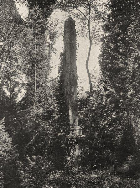 Associate Product AUBE. Le Paraclet- Tombeau d'Héloïse et d'Abélard 1906 old antique print