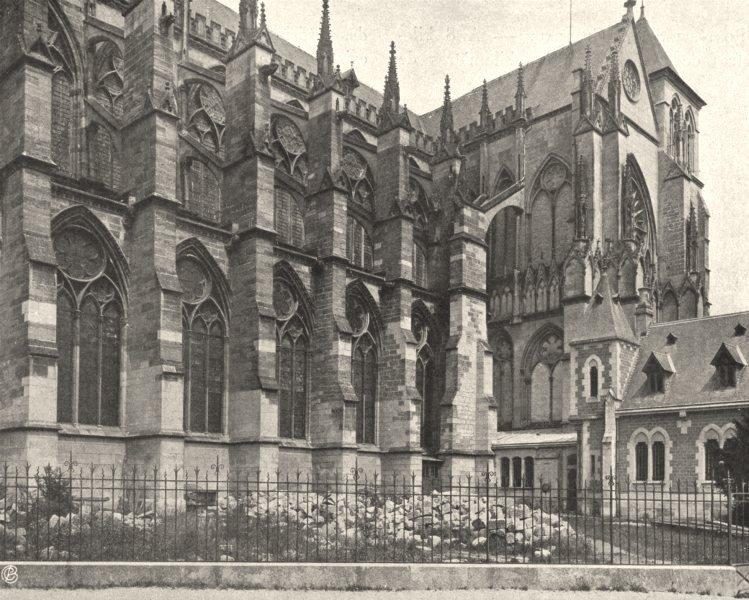 Associate Product MARNE. Châlons-sur-Marne- Cathédrale 1906 old antique vintage print picture