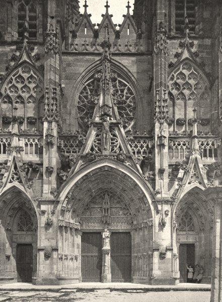 Associate Product MARNE. Notre- Dame-de-l'Épine- Portail 1906 old antique vintage print picture
