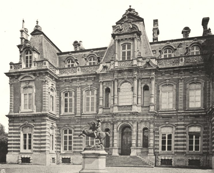 Associate Product MARNE. Épernay- Château Perrier 1906 old antique vintage print picture
