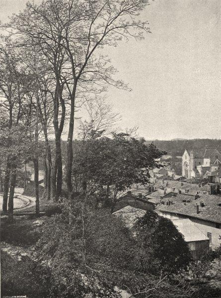 Associate Product MARNE. Sainte-Menehould- Vue générale 1906 old antique vintage print picture